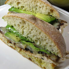 Chicken Mushroom Pesto Sandwich With Avocado