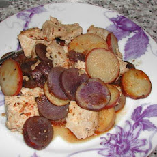 Baked Tofu and Potatoes