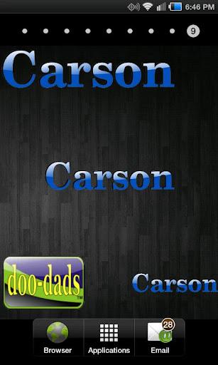 Carson doo-dad