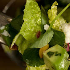 Romaine and Watercress Salad with Cilantro Vinaigrette