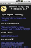 Screenshot of Cool Reader Gold Donation