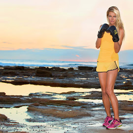 Box it by Helena Lindgren - Sports & Fitness Fitness ( yellow boxing sunrise energy  helenalidas )