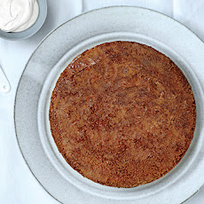 Brown Butter-Polenta Cake with Maple Caramel