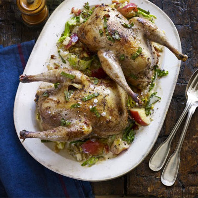 Pot-roast Pheasant With Cider & Bacon