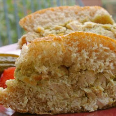 Chicken and Provolone Salad Sandwiches