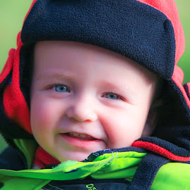My Hat by Roberta Janik - Babies & Children Toddlers ( winter wear, male, cold weather apparal, red hat, toddler, hat )