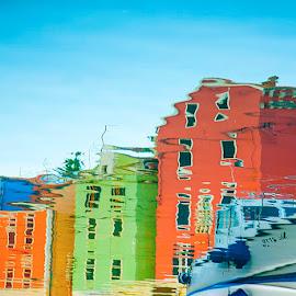 Urban architectural reflections by Elvis Pažin - Buildings & Architecture Architectural Detail ( pitoresque, veli lošinj, croatia, reflections, mali lošinj, island of mali lošinj )