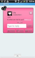 Screenshot of GO SMS THEME/GirlyPinkBlack