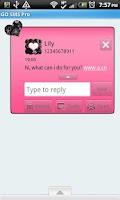 Screenshot of GO SMS THEME/GirlyPinkBlack