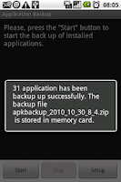 Screenshot of APK Backup