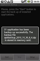 Screenshot of APK Backup