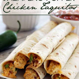 Jalapeno Popper Chicken Taquitos