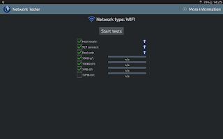 Screenshot of Network Tester