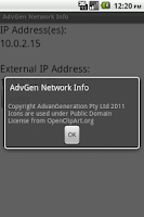 Screenshot of AdvGen Network Info