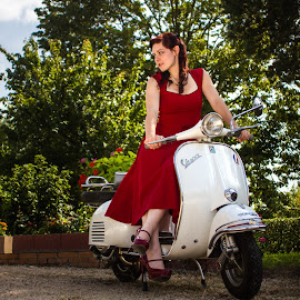 Vespa by Yves Le Loup - Transportation Bicycles ( vespa, french model, alternative, lady, scooter )