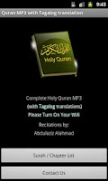 Screenshot of Quran MP3 With Tagalog