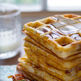 Ultra Crispy Overnight Bacon and Rosemary Yeasted Waffles