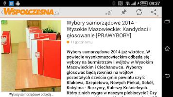 Screenshot of Gazeta Współczesna