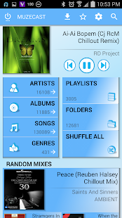 Muzecast Music Streamer Pro - screenshot