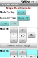 Screenshot of Simple Meal Reminder