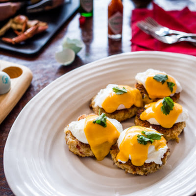 A Big Brunch and a Recipe for Louisiana Crab Cakes with Poached Eggs & Tabasco Hollandaise (In Partnership with Tabasco® Brand Pepper Sauce)