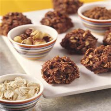 Chocolate-Hazelnut Oatmeal Refrigerator Cookies