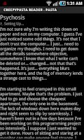 Screenshot of CreepyPasta Reader