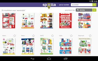 Screenshot of Spotta: folders & aanbiedingen