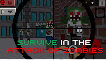 Screenshot of Pixel Sniper 3D  Zombie Hunter