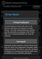 Screenshot of MOGA Universal Driver