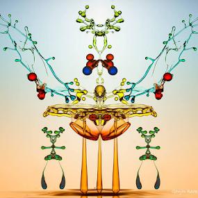 Water Empire by Ganjar Rahayu - Digital Art Abstract ( waterdrop )