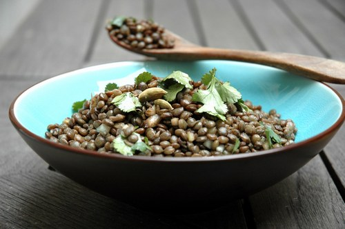 carrot puy lentil and warm lentil and carrot salad warm roasted ...