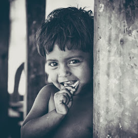 Smile  by Salmi Kabir - Babies & Children Child Portraits ( bangladesh, black and white, beautiful, children, beauty, smile,  )