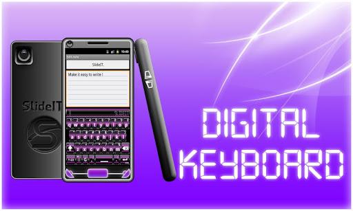 SlideIT Purple Digital Skin