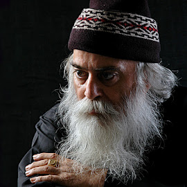 The Philosopher. by Rakesh Syal - People Portraits of Men