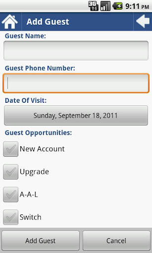 Guest Opportunity Log