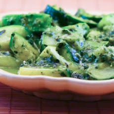 Sauteed Zucchini with Spinach and Basil Pesto