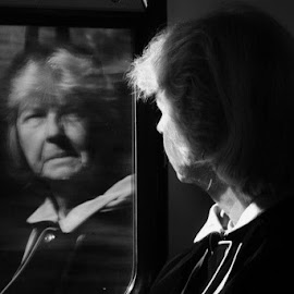 Reflecting on Life by Sandy Darnstaedt - Transportation Trains (  )