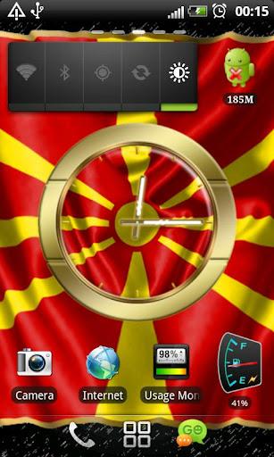 Macedonia flag clocks
