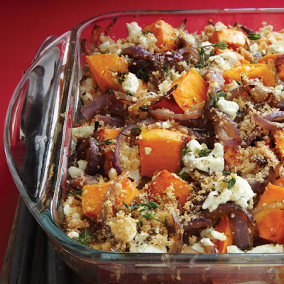 Roasted Sweet Potatoes, Caramelized Onions & Goat Cheese