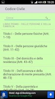 Screenshot of Codice Civile Italiano 2013