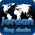 Jordan flag clocks icon