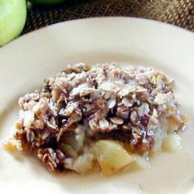 Microwave Apple Crumble