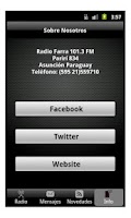 Screenshot of Radio Farra
