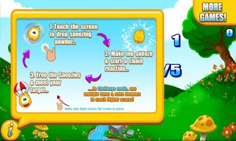Screenshot of Sneezies - Chain Reaction Lite