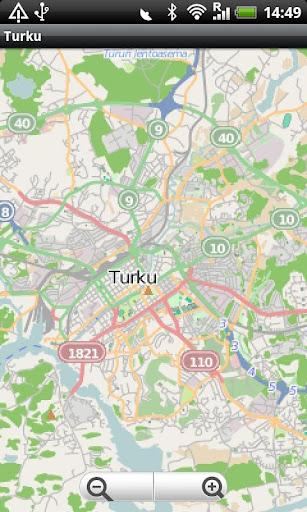 Turku Street Map