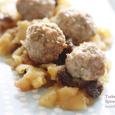 Turkey Meatballs with Spiced Apple Chutney