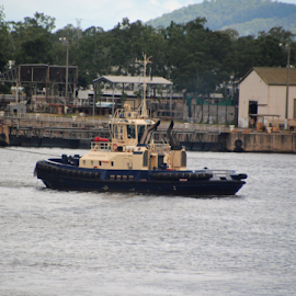 TUG by James Menteith - Transportation Boats ( transportation, boat, photography, river, tug )