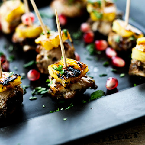 Jerk Chicken Bites with Rum Glazed Pineapple