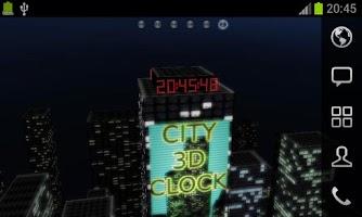 Screenshot of 3D Night City Clock